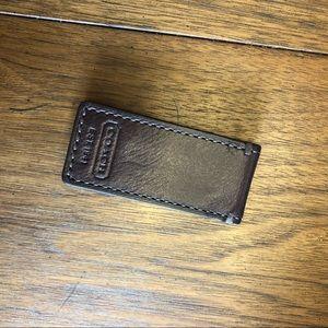 Coach Leather money clip